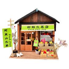 Miniature 1:24 DIY Dollhouse Furniture, 3D Wooden Vintage Fresh Fruit Shop
