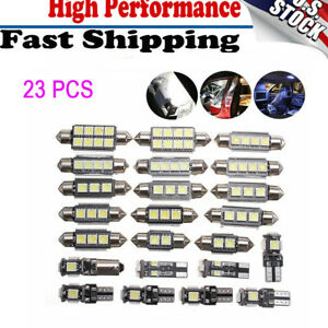 23x Canbus LED Car Interior Inside Light Trunk Dome Map License Plate Lamp Bulb