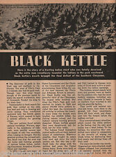 Black Kettle History and Legend+Sitting Bull,Spotted Crow,Standing Water,Red Fox
