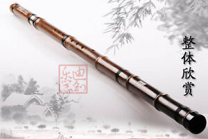 Professional Purple Bamboo Flute Xiao Instrument Chinese Shakuhachi 2 Sections