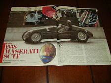 1938 MASERATI 8CTF GRAND PRIX RACE CAR ***ORIGINAL 1986 ARTICLE***