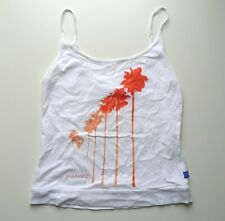 Mambo Ladies Vest Tank Top T-Shirt, Surfing Surf Skate, White, Womens XS UK 8