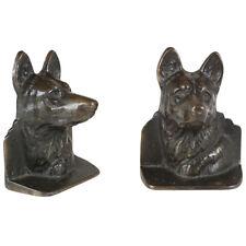 Pair of Brass German Shepherd Dog Bookends
