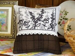 Wildflowers Blackwork Cross Stitch Pattern Coneflowers Daisy Country Garden