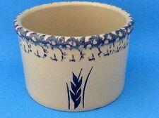 """Roseville Ohio U.S.A. Blue Spongewear Pottery Crock  6.5"""" x 4.5"""""""