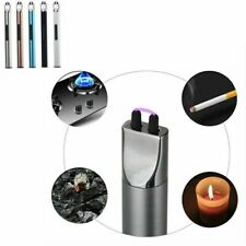 USB Electric Arc Flameless Cigarette Lighter Windproof Plasma  Charge Cable