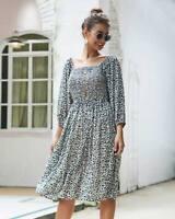 Long Sleeve Maxi Shirt Dress Party Floral Cocktail Short Women's Dress Boho