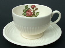Wedgwood Moss Rose T432 Pattern 320ml Breakfast Tea Cup & Saucer  - Looks in VGC