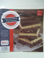 """Pre-Cut Baking Paper 10"""" Squares - pack of 25 - BRAND NEW!"""