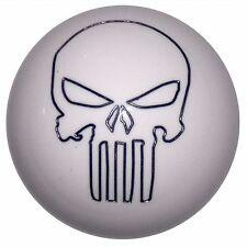 White Punisher Skull shift knob Fits Mustang Cobra M12x1.75 thrd