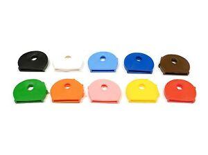 10 Stück Schlüsselkappen - rund - farblich sortiert - Schlüsselkennringe - 25100