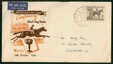 Mayfairstamps Australia Fdc Jockey and Horse Melbourne Cup First Day Cover wwm_8