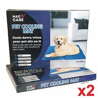 2x PET COOLING GEL MAT BED DOG CAT SUMMER HEAT RELIEF NON TOXIC CUSHION PAD