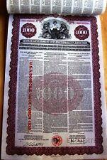 $1000 Gold bond German Government International Loan 1930 w/ 41 coupons Morgan &