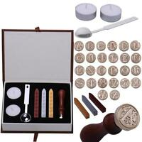 Vintage Seal Sealing Wax Stamp set For Letters Wedding Party Invitation Kit