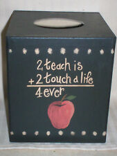 TISSUE / KLEENEX BOX COVER /  DECORATIVE TEACHER /  FITS UPRIGHT BOXES