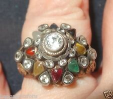 1960'S tHAI STYLE RING SIZE 5-3/4 CROWN STYLE RING ALL GENUINE STONES