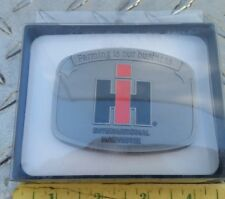 """international """"Farming is our Business"""" Pewter Belt Buckle speccast case ih"""
