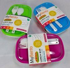 Mi Caja De Almuerzo Bento solo con tapa y juego de cubiertos, durable libre de BPA de Niños Adultos