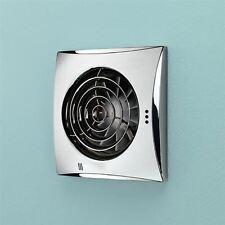 Hib Hush ventilador montado en la pared con temporizador de cromo