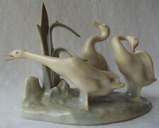 "Fine Vintage Lladro Retired ""Group Of Ducks"" Porcelain Glazed Figurine # 4549"