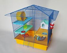 Hamster Cage Rodents With Water Bottle House Tube Wheel Platform Animals Pet