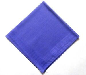 "Men's 12"" Pocket Square Stitched Wedding Plain Handkerchief Hanky Fabric Violet"