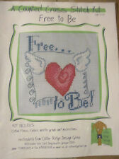 Cutter Ridge Design Group Counted Cross Stitch Kit Free to Be Heart