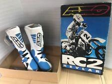 [NOS] Vintage AXO Motocross Boots RC2 White/Blue Size 44 US9.5-10