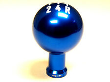 FORD MUSTANG 5 SPEED MANUAL THREADED ROUND BALL SHIFT KNOB & BOOT RETAINER BLUE