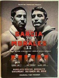Danny Garcia vs Erik Morales 2 on-site BOXING program Vintage Fight Memorabilia