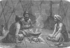 TURKMENISTAN. Interior of a Turkoman tent 1892 old antique print picture