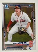 2021 Bowman Prospects Chrome Base #BCP-71 Blaze Jordan - Boston Red Sox