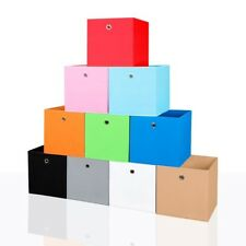 2er Set Faltbox in Orange 34 x 34 cm Faltkiste Regalkorb Regalbox Kinderbox