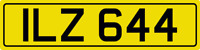 DATELESS PRIVATE NUMBER PLATE ILZ 644 CHERISHED REG COVER NON DATING IAN IAIN IL
