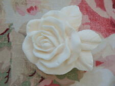 Shabby Chic French Rose & Leaves Knob Furniture Cabinet Cupboard Drawer Pull