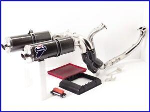 2005 MONSTER S4R MS4R Full Exhaust Muffler Set High Up W/ ECU & BMC Air Filter