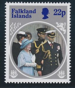 Falkland Is 1985 Life & Times Queen Mother inverse watermark sg506w MNH