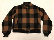 Woolrich Woman Vintage Brown Buffalo Plaid Wool Blend Jacket (Lg) (J3)