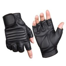 PU Leather Drive Bike Gym Fitness Half Finger Glove Finger Less Functional #CP