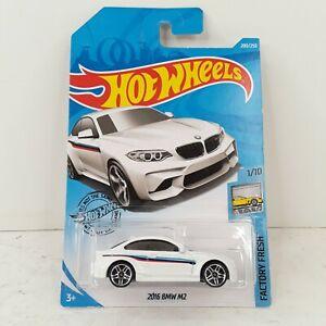 2019 Hot Wheels 200/250 White 2016 BMW M2 Factory Fresh 1/10 New