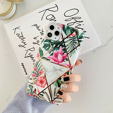 Plating Splice Plant Flower pattern Series IMD Shockproof Soft Back Phone Case