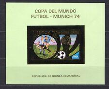 s5148) GUINEA ECUATORIAL 1974 MNH** WC Football -CM Calcio S/S GOLD IMPERF