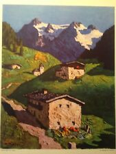 "Alphonse Walde Print: ""Fruhling in Tirol,""  from the late 1930's"