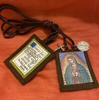 Catholic Holy Bless Scapular With Medals Our Lady of Guadalupe felt/cloth/medal