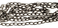 Gun Metal Plated Iron Thick Oval Jewelry Chain Destash 9mm x 6mm 12 Feet 24190