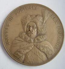 KING SOBIESKI VIENNA battle  ANTI-TURKISH WAR OTOMAN POLISH POLAND table medal