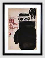 AD CULTURAL MOVIE BUSTER KEATON BATTLING BUTLER GERMANY FRAMED PRINT B12X4354