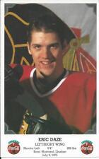 1995-96 NHL Coca-Cola Chicago Blackhawks Oversize ERIC DAZE Promo Card - Rare