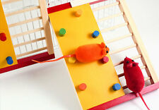 New Home Colorful Natural Wooden Climbing Ladder Molar Toy for Pet Rat Hamsters